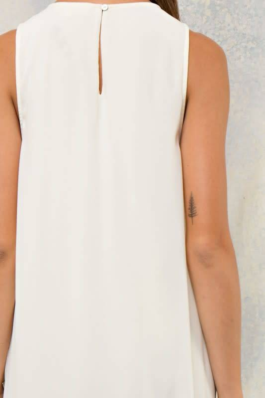 Tent Dress W/ Illusion V Neck W/ Lace Detail & Tent Dress W/ Illusion V Neck W/ Lace Detail - Tiffany Lane