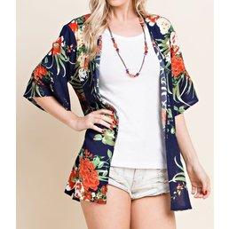 Tropical Print Kimono
