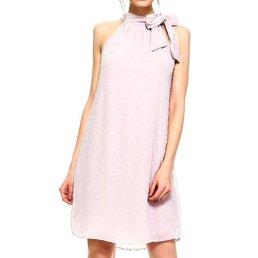 Polka Dot Pattern Halter Mock Line Dress