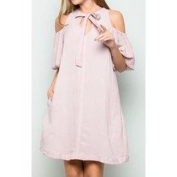 Front Tie Mineral Wash Dress W/ Pockets