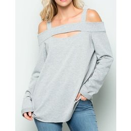 French Terry Front Cut Out Top