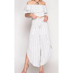 Striped Midi Pants