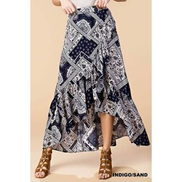 Bohemian Patchwork Printed Skirt