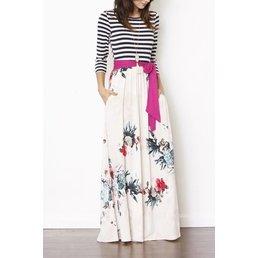 Floral Maxi Dress W/ Sash