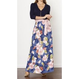 Surplice Maxi Dress W/ Sash