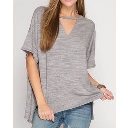 Half Sleeve Knit Top