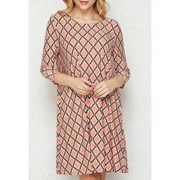 Bulgari Cross Cut Print Dress