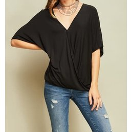 Surplice V Neck Top