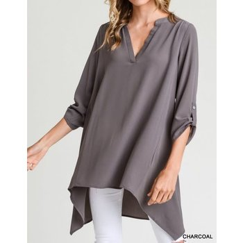 Collarless Tunic