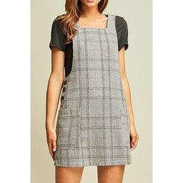 Plaid Pinafore Dress