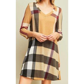 Plaid Sweater Dress