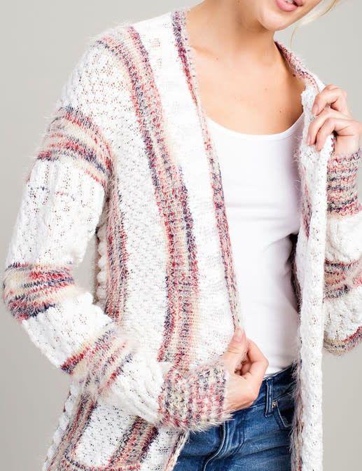 Cable Knit Cardigan - Tiffany Lane