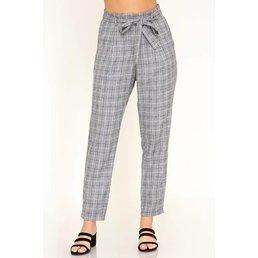Grid Print Pants