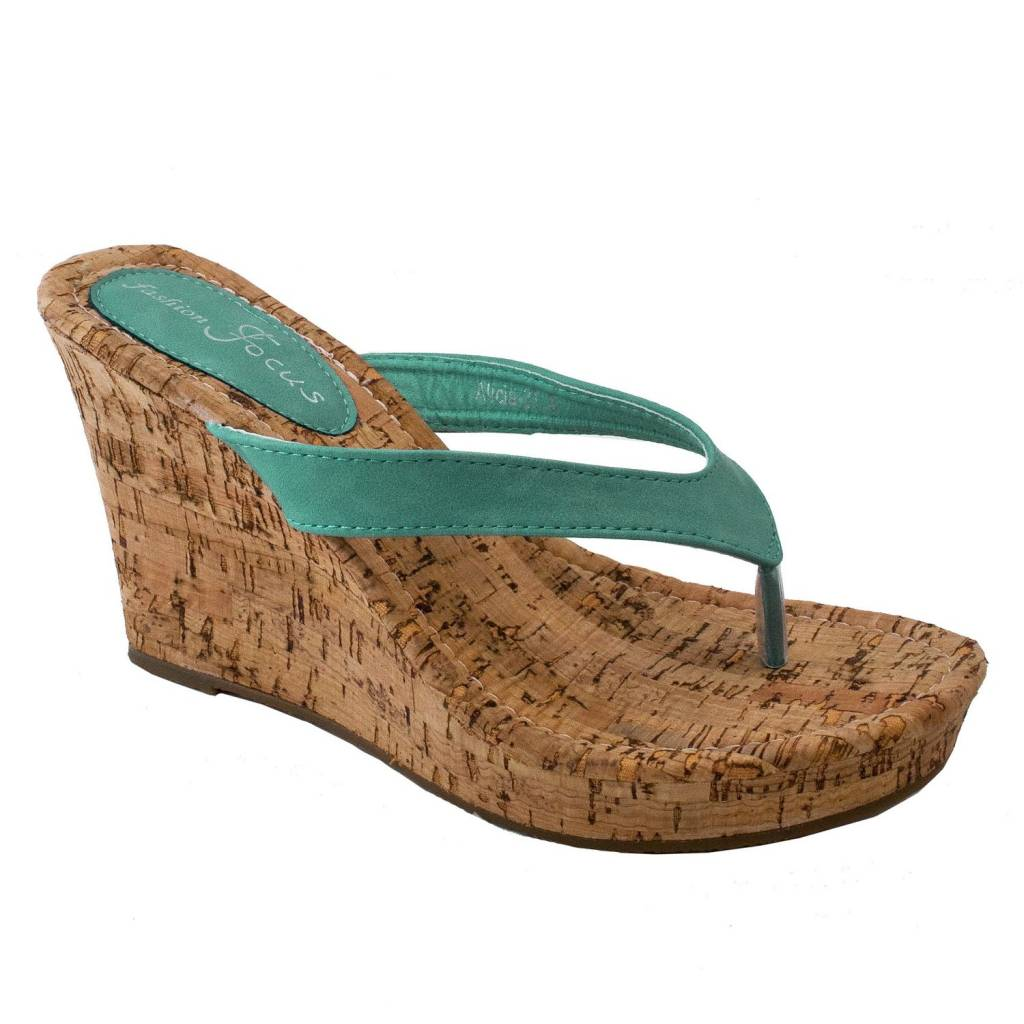 Alicia Mint Wedge Sandal 10