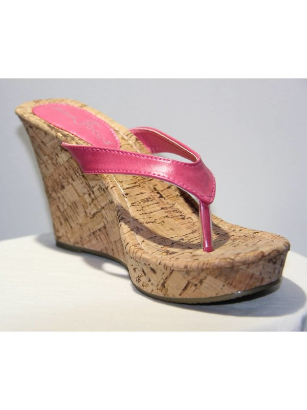 Alicia Coral Wedge Sandal S 10