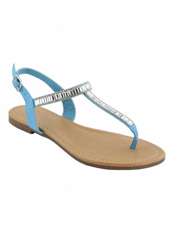 Talia's Ice Blue Thong Sandal Size 8 1/2