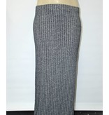 Ambiance Plus Size Grey Knit Maxi Skirt