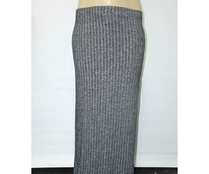Ambiance Plus Size Grey Knit Maxi Skirt - My sweet November Boutique