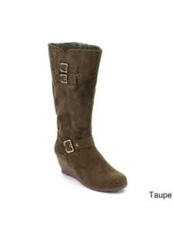 MONICCAA-2 TAUPE BOOTS SIZE 6