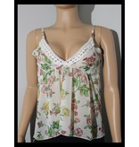 Ambiance Lace Floral See Thru Top