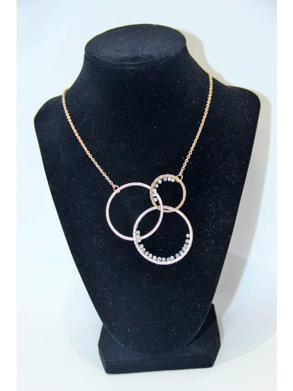 Fame Accessories Gold Circles Necklace