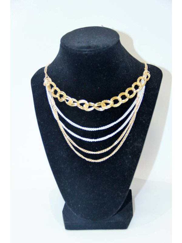 My Style Necklace Gold & White