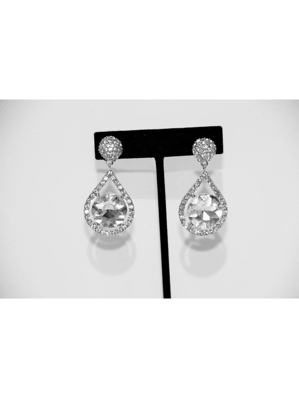 It's Sense Silver Rhinestone Earrings
