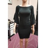 Heart and Hips Bell Slv Black Dress