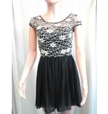 Lace Toped Chifon Dress