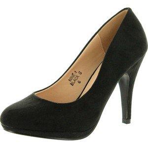 Ana's Shoes Bella Marie Black Suede Heels