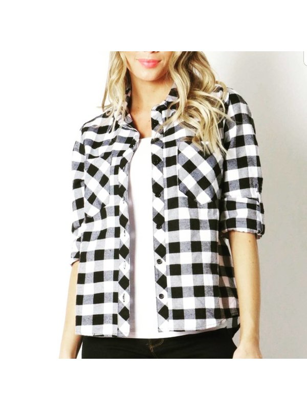 Black & White Checkers Top