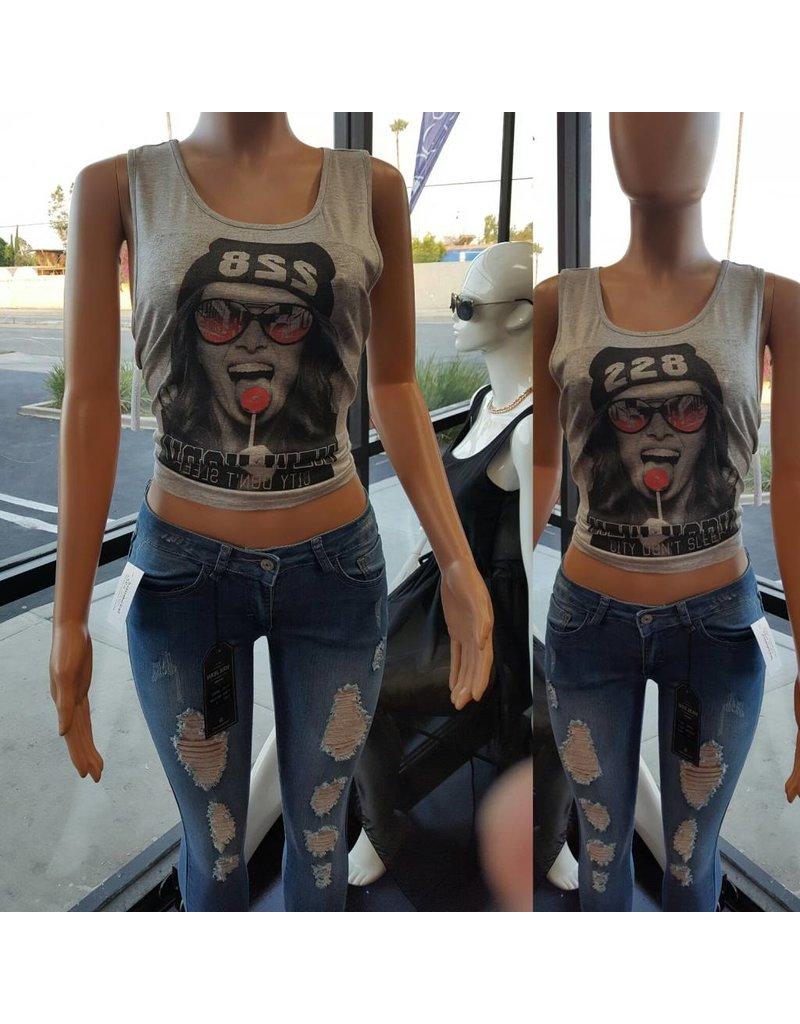 Wax Jean Ripped Skinny Jeans