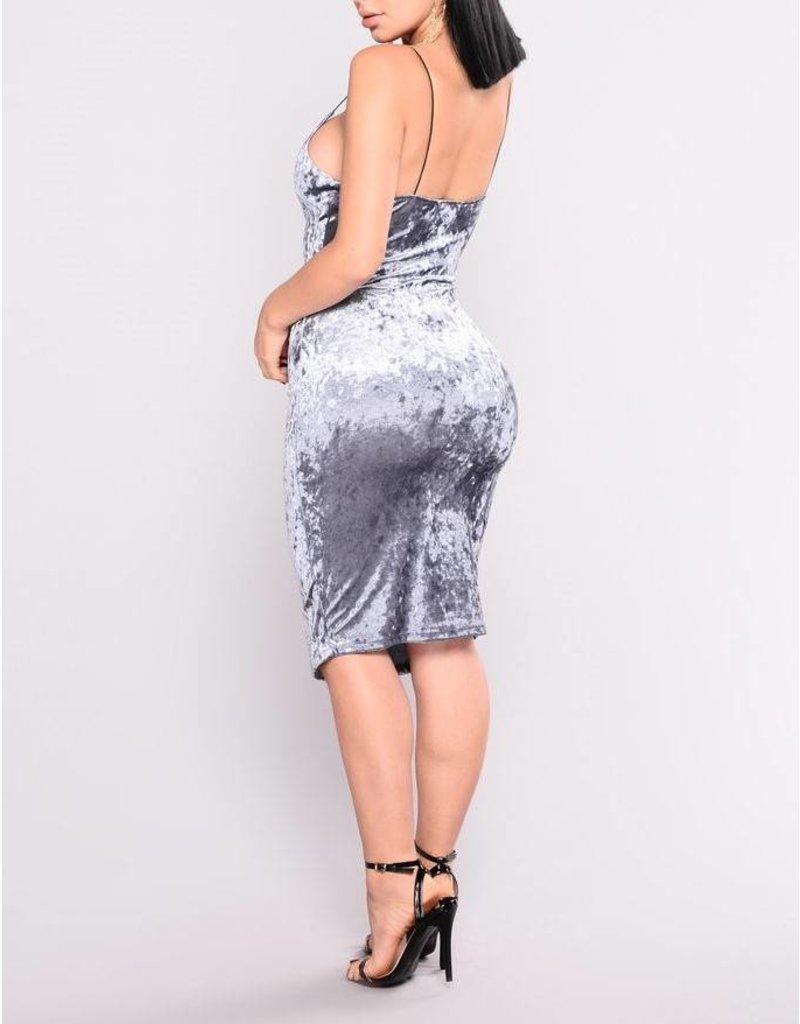 Ice Velvet Midi Dress