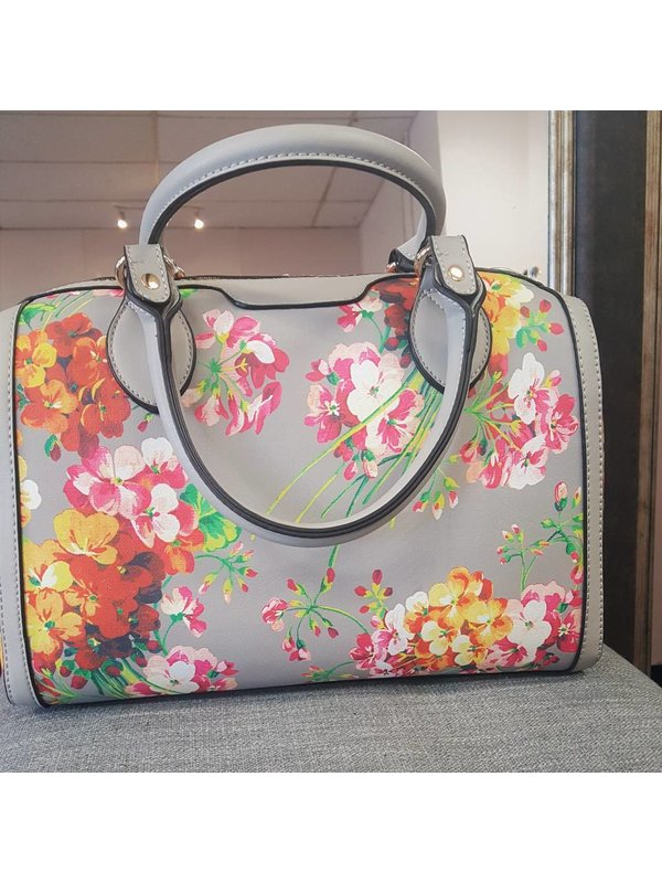 HandBag Republic Cream Floral Handbag Republic