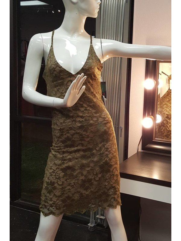 Olive Lace Dress