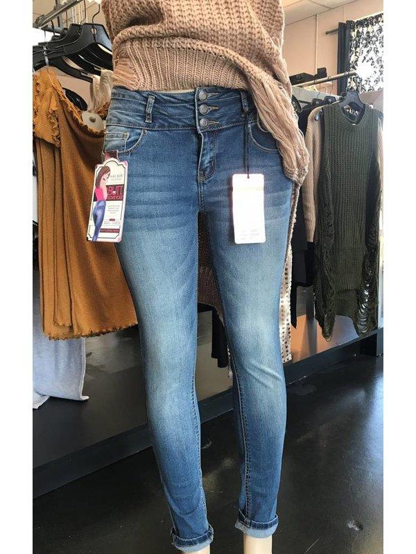 Wax Jean 3BTN Pushup Skinny Jeans