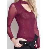 IRIS Plum Long Sleeve Bodysuit