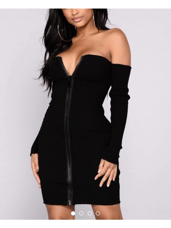 Black Zipper Dress