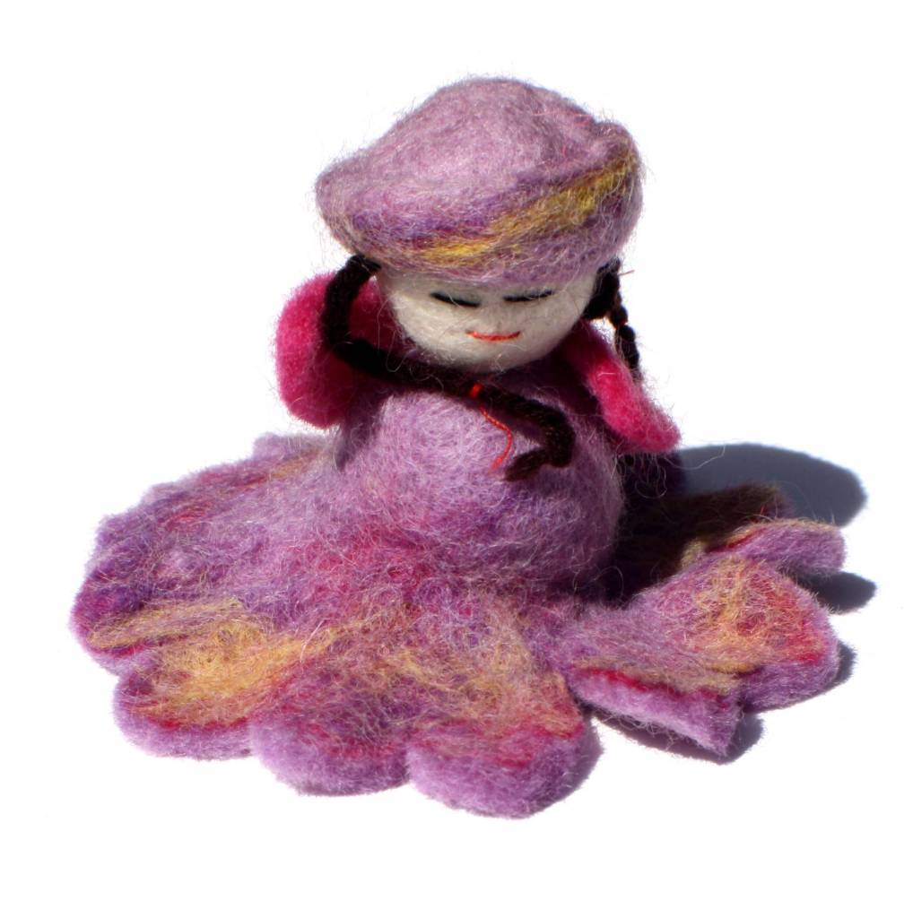 Felted Flower Fairy