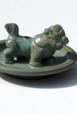 Incense Holder, glazed snow lion