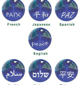 Marble, Earth With Peace in Different Languages