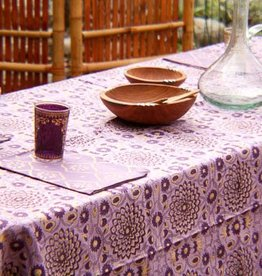 Plum & Gold Garden Tablecloth