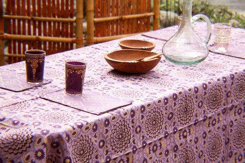 Plum U0026 Gold Garden Tablecloth ...