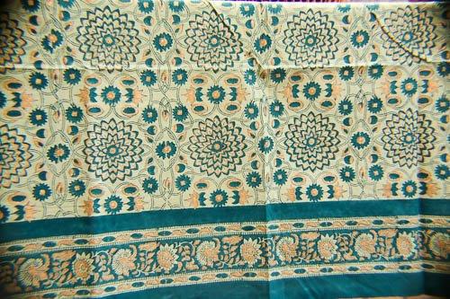 Green & Gold Garden Tablecloth