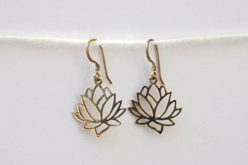Hanging Lotus Earrings