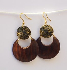 Earth & Fire Lunar Hanging Earrings