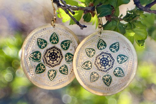 """Matsya"" Medallion Hanging Earring"
