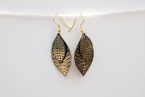 Gold Sanctuary Hanging Earring