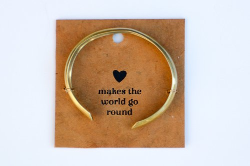 Love Makes the World Go Round bracelet