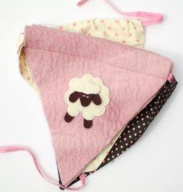 Pink Sheep Felt Banner